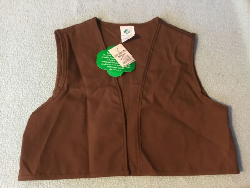 Girl Scout Brownie Vest Brown Size Small NWT