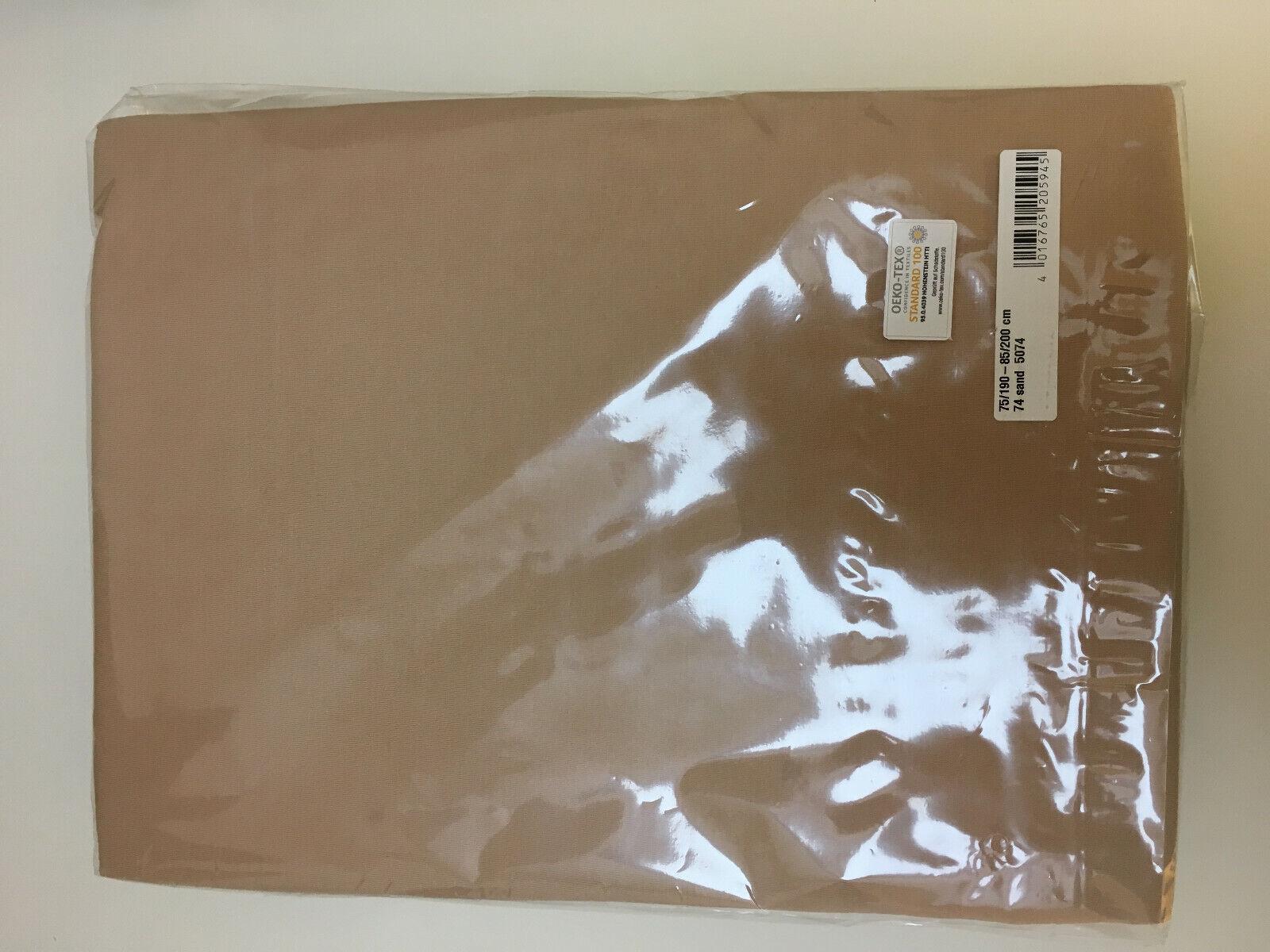 Spannbettbuch Massageliegenbezug Jersey 75/190 - 85/200 cm, sand Geschenk