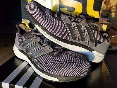 3495db276 Adidas Boost Mens Size 10 Supernova Running Shoes BB3477 Black Silver White  New