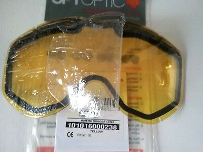 Spy + Omega Snow Goggle Replacement Lens Yellow New Free Shipping (Spy Replacement Lenses)