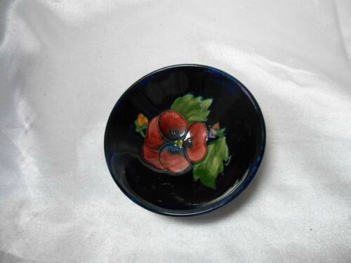 Vintage Moorcroft Small Bowl With Paper Label