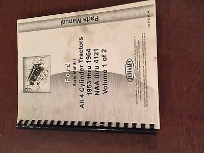 Ford Naa Through 4121 Parts Catalog Manual Series Tractor Two Books