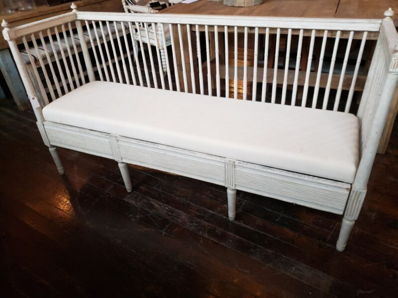 c.1800 Antique Swedish Gustavian Scandinavian Bench