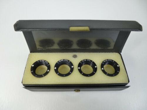 Phoropter Auxillary Lens Set Minus Cylinders - AO Reichert B&L -2.00 & -0.12 Cyl