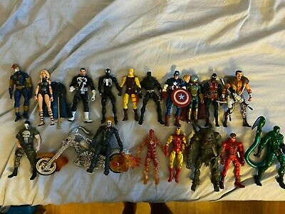 Marvel Legends Ghost Rider, Punisher, Spider-man, Iron Man action figures