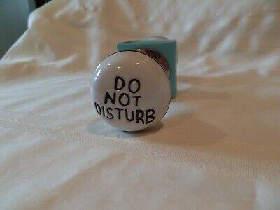 DO NOT DISTURB Door Knob Set by Cynthia Rowley New York BRAND NEW