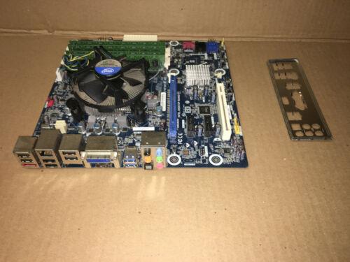 Intel DH67BL Motherboard. Core i7-2600 @ 3.40GHz. 16GB RAM.  I/O Shield. FAN.