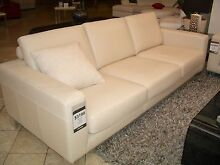 Leather lounge - Ivory 3 seater excellent condition South Perth South Perth Area Preview