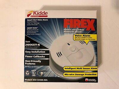 Kidde KN-COSM-IBA Smoke & Carbon Monoxide Alarm Wire-In AC w/Battery Backup -