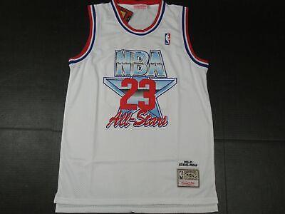 New Michael Jordan #23 Chicago Bulls 1992 NBA ALL-STAR GAME M&N Jersey White