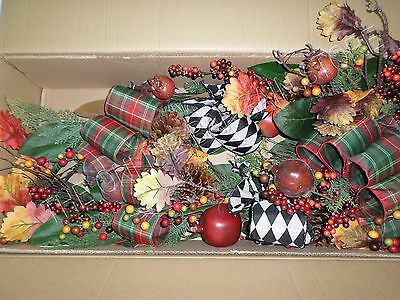 Frontgate Grandinroad Christmas Abbeville Mantel Swag Ring 6' Grapevine Decor