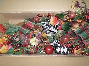 Frontgate Grandinroad Christmas Abbeville Mantel Swag Garland 6' Grapevine Decor