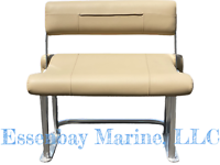 Complete Tidewater Style Parallel Swing Back Anodized Leaning Post Buff Tan