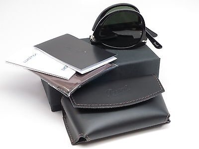 Persol PO 714-S 95/58 Black Folding Polarized Sunglasses 714S (Persol 714 Glasses)