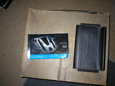 2009 Honda Accord Sedan owners manual with cover case