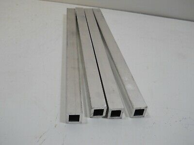4 Pieces 34x 34x 18 Wall X 12 Long Aluminum Square Tube