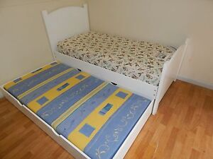 Treehouse brand white single bed +trundle SYD DELIVERY & ASSEMBLY Windsor Hawkesbury Area Preview