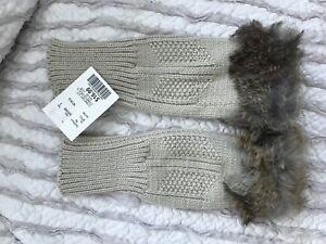Wrist Warmer with Rabbit Fur