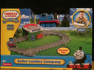 Thomas & Friends – Take-n-Play Sodor Lumber Company Starter Set - New