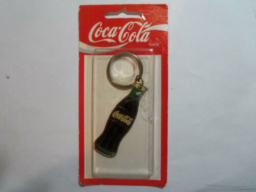 Vintage Coca Cola Bottle Shape Keychain with Ring,1995, New Old Stock in Package