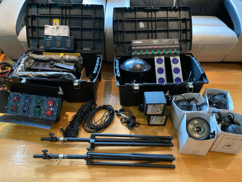 Large Lot of DJ Professional Lighting Equipment Chauvet