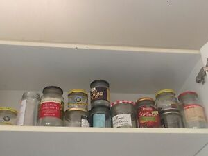 25 glass jars - all different sizes- free to a good home! Kirribilli North Sydney Area Preview