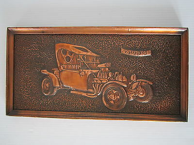 Vintage / Antique T Bucket Hot Rat Rod hammered copper sheet 3D picture frame  for sale  Canada