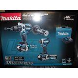 Makita XT268T 18V LXT Brushless 2-PC Combo Kit 5.0Ah 2 Batteries Charger Li-Ion