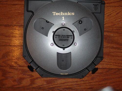 """MINT BLACK TECHNICS EMPTY 1/4"""" 10.5"""" TAKE UP METAL REEL TO REEL 3M ATR CASE L@@K"""