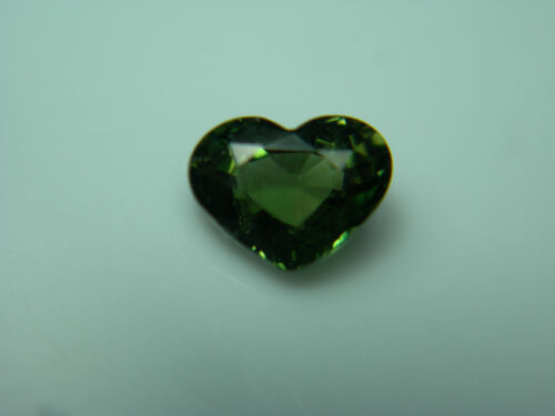 rare GREEN Kornerupine FANCY HEART cut gem Tanzania natural Fine gemstone
