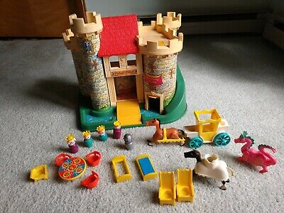Fisher Price 993 Castle and People W/ Horse Knight Furniture And More