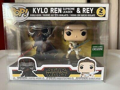 Star Wars Kylo Ren & Rey 2 PACK Funko POP! Barnes & Noble Exclusive New