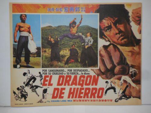EL DRAGON DE HIERRO, SET OF 8 ORIGINAL LOBBY CARDS