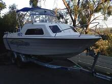 Fishing / diving boat 18ft cabin, 125HP with tandem trailer Mount Eliza Mornington Peninsula Preview