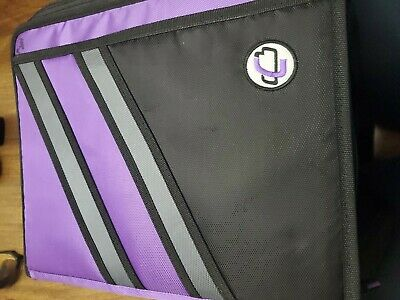 Case-it Z-design Zippered Binder With Tab File D-ring 1-12 Inches Purple