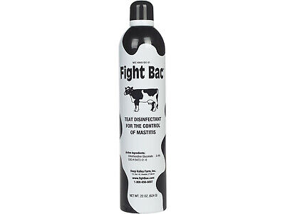 Fight Bac Teat Disinfectant Spray Dairy Cows Sheep 22oz Mastitis Control Chloroh