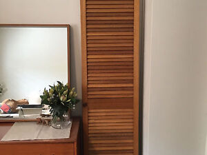 Six timber louvred wardrobe doors Adelaide CBD Adelaide City Preview