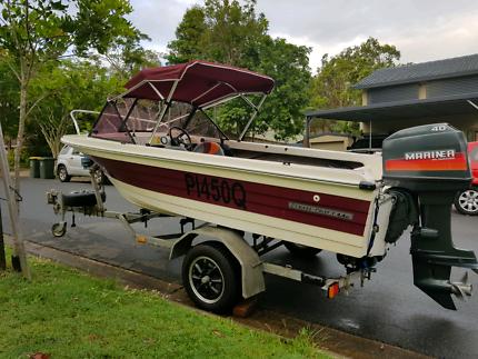 Strata Craft 4.4m 40hp fiberglass boat