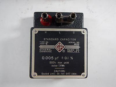 General Radio Co Standard Capacitor 1409-k 0.005 F