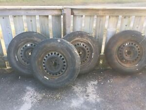 185/75R14 winter-tires with rims set of 4