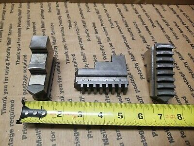 Chuck Jaw Set Outside For 3-jaw Lathe Vintage Nice Quality Heavy Duty Look