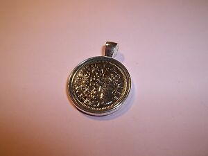 SIXPENCE COIN -  SILVER CASED - PENDANT 1947 - 1967 PICK YOUR YEAR