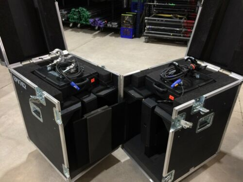 2 Elation EVP762 MH Moving Video Heads with case, clamps and cables