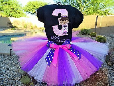 Doc Mcstuffins Birthday Outfit (Pesonalized Doc McStuffins Birthday tutu outfit 12 months to)