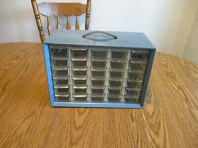 Vintage Metal Akro-mils 30 Drawer Cabinet Organizer Storage Unit