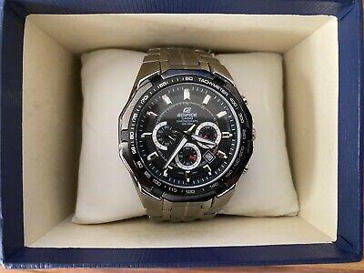 Casio Edifice Chronograph EF-540 Men's Watch Quartz Used Authentic