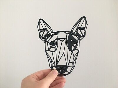 Geometric English Bull Terrier Pet Dog Wall Art Decor Hanging Decoration  Bull Terrier Tapestry