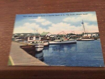CAROLINA BEACH NC Boats Moored in Harbor Yacht Basin Fishing North Carolina