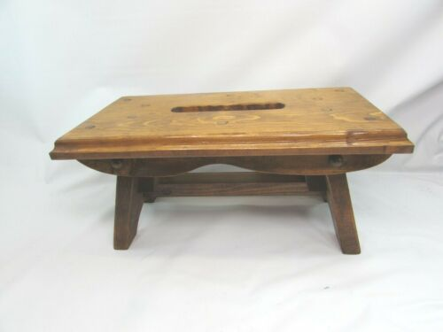 VINTAGE Small Step Stool Pine 33410 Wood Wooden