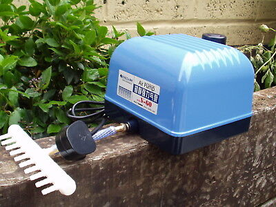 60 LITRE SUPER SILENT AIR PUMP FOR PONDS,KOI,HYDROPONIC HAILEA V60